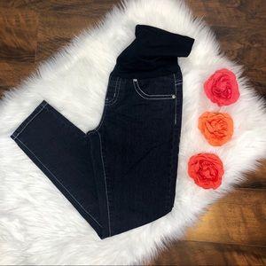 Maternity Rhinestone Embellished Jeans.